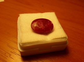 Ragyogó minőségű 6.90 CTOvális Gyűrű méretű-  Red Beryl Gemstone - tanúsítvánnyal