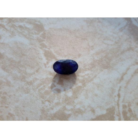 3,40 Ct Természetes Ovális  Kék Zafír drágakő tanúsítvánnyal
