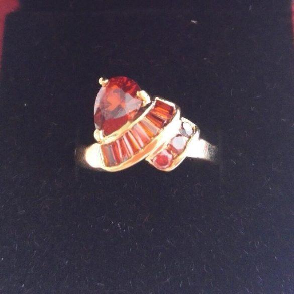 14 K Gold Filled -  Női Esküvői Ékszer gyűrű mérete: 7.5 , Stamped 14K