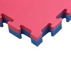 Puzzle tatami szőnyeg Aktivsport 100x100x4 cm piros-kék
