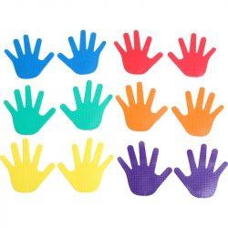 Kéz alakú padlójelölő szett 12 db Aktivsport