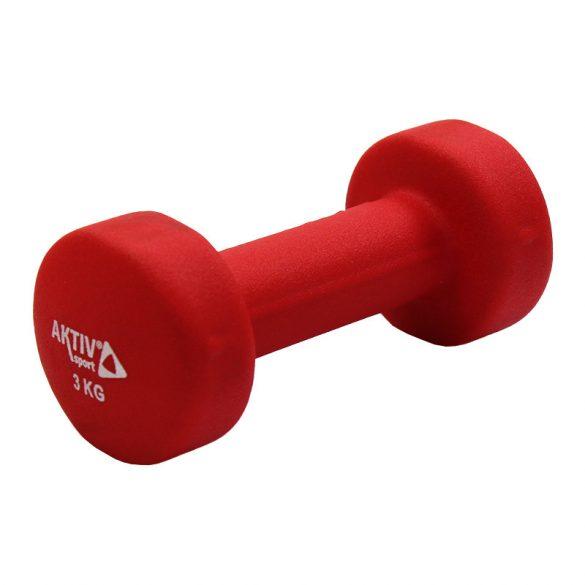 Súlyzó neoprén Aktivsport 3 kg piros