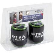 Csukló- és bokasúly Aktivsport 2x0,5 kg fekete-zöld
