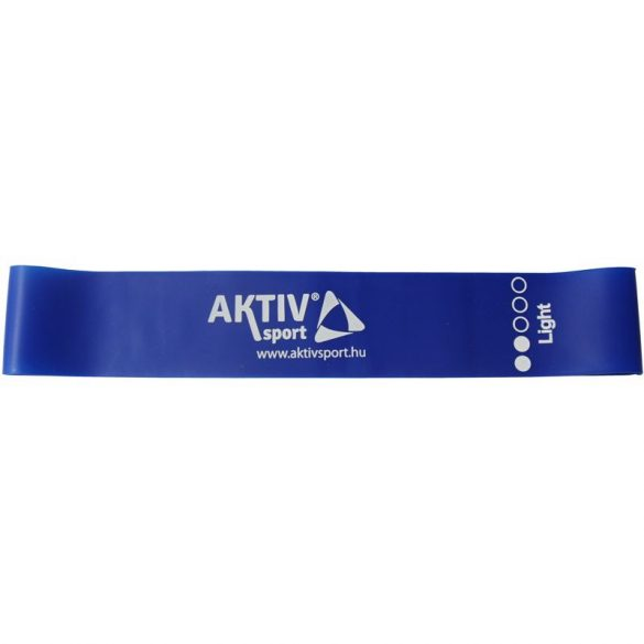 Mini band erősítő szalag 30 cm Aktivsport gyenge kék