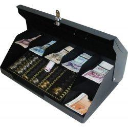 7 rekeszes fedeles bankjegytároló érmetálcával (BET-7F)