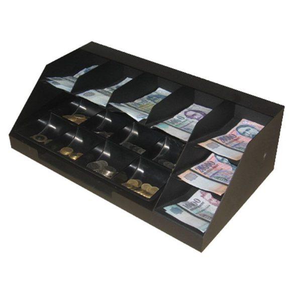 7 rekeszes fedeles bankjegytároló maroktálcával (BMT-7F)