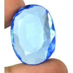72 Ct. ovális alakú Kék Topaz - tanúsítvánnyal