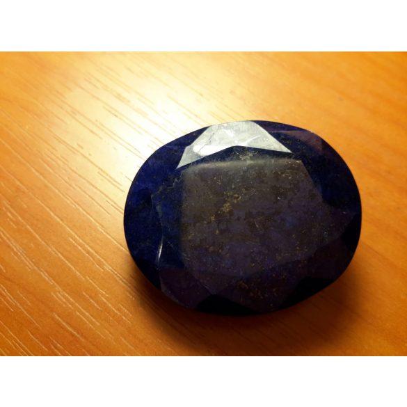 168 CT Természetes gyönyörű ovális  sötét kék  Zafir Gemstone